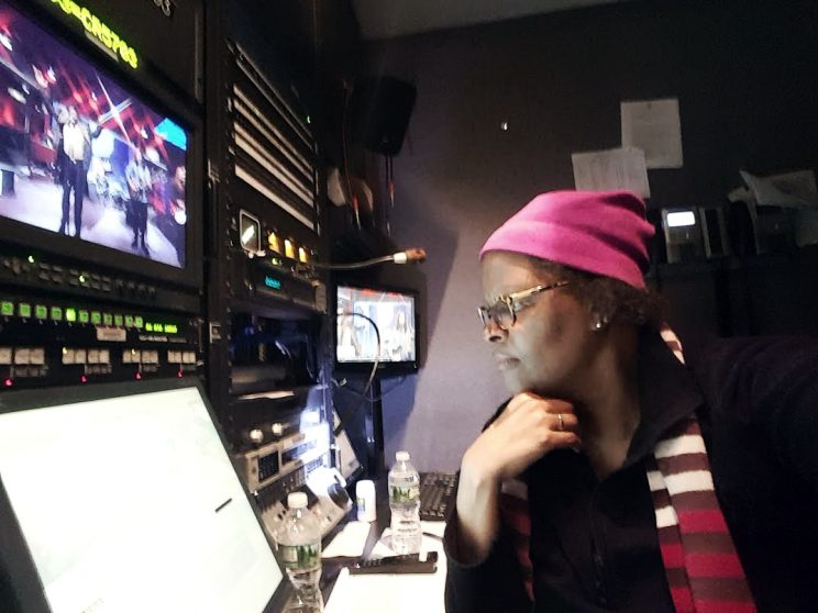 me at work  in the edit bay